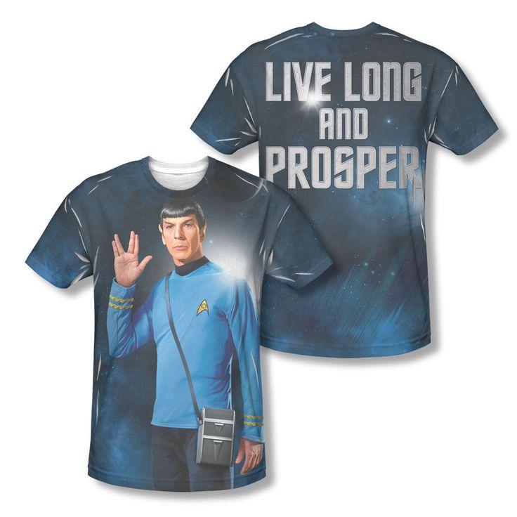 Star Trek Spock Vulcan Hand Sign Live Long Prosper Sublimation All Over T-shirt Available In Sizes:Small, Medium, Large, XL, 2XL #StarTrek #Vulcan #MrSpock #SpockTshirt #LiveLongAndProsper