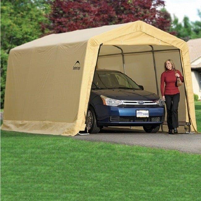 Shelterlogic AutoShelter 1015 Instant Garage 10' x 15' x 8', Tan (Polyethylene) #62681