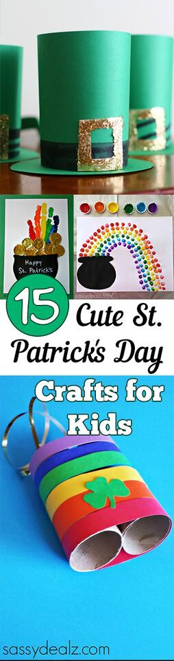 15 Cute St. Patrick's Day Crafts for Kids
