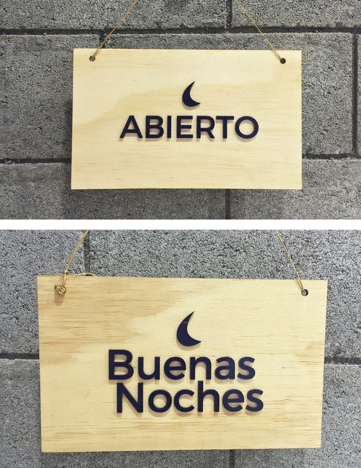 Letreros de madera y acrilico para locales I Wood and acrylic signs by elchangarromty #lasercut #signs #design #elchangarromty
