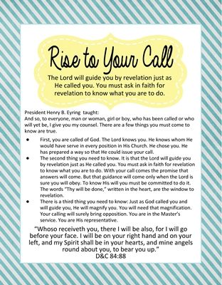 Rise to Your Call - Henry B. Eyring