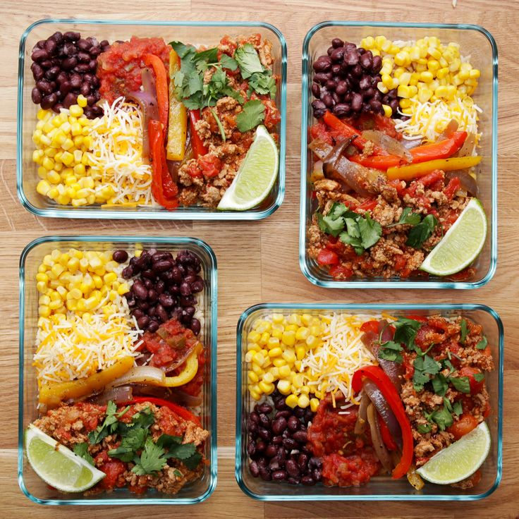 58 best vegetarian foods images on pinterest cooking recipes weekday meal prep turkey taco bowls forumfinder Image collections