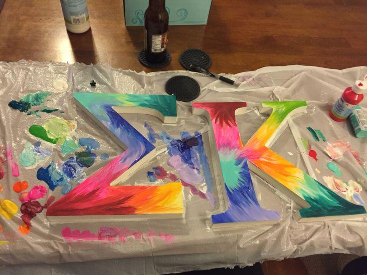 Tie dye Greek letters - Sigma Kappa #diy #EK #SK   Sigma Kappa Letters