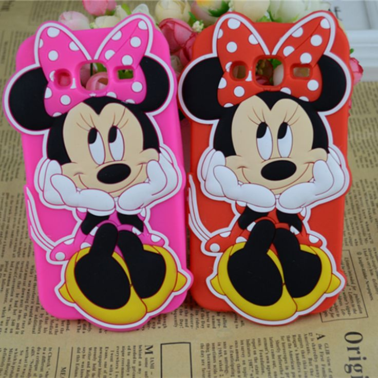 3D Cartoon Monsters University Luna Cat Minnie Mouse Silicone Case For Samsung Galaxy J5 J500F J7 J700F 2015 Back Cover Housing