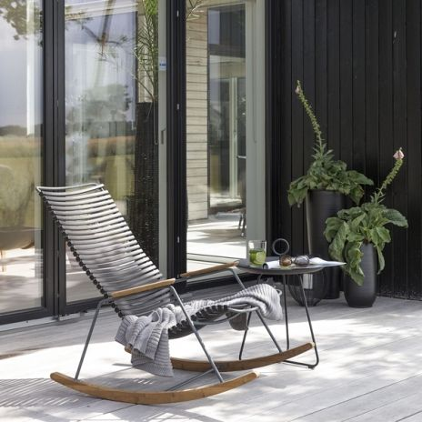 Rocking Chair, CLICK SYSTEM, Resin And Steel, Outdoor, By HOUE