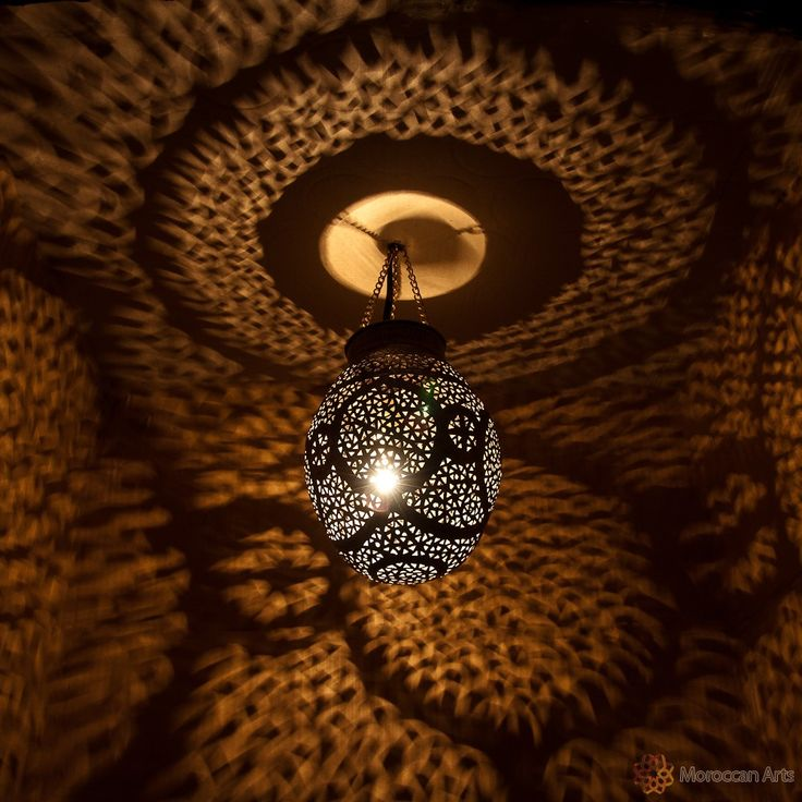 Moroccan Lamp chiseled and engraved