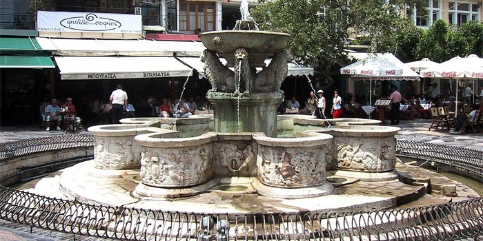 Morozini Fountain in Heraklion, Crete