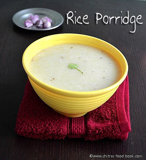 Easily digestible rice porridge recipe for babies and sick people to gain energy and lost fluids.