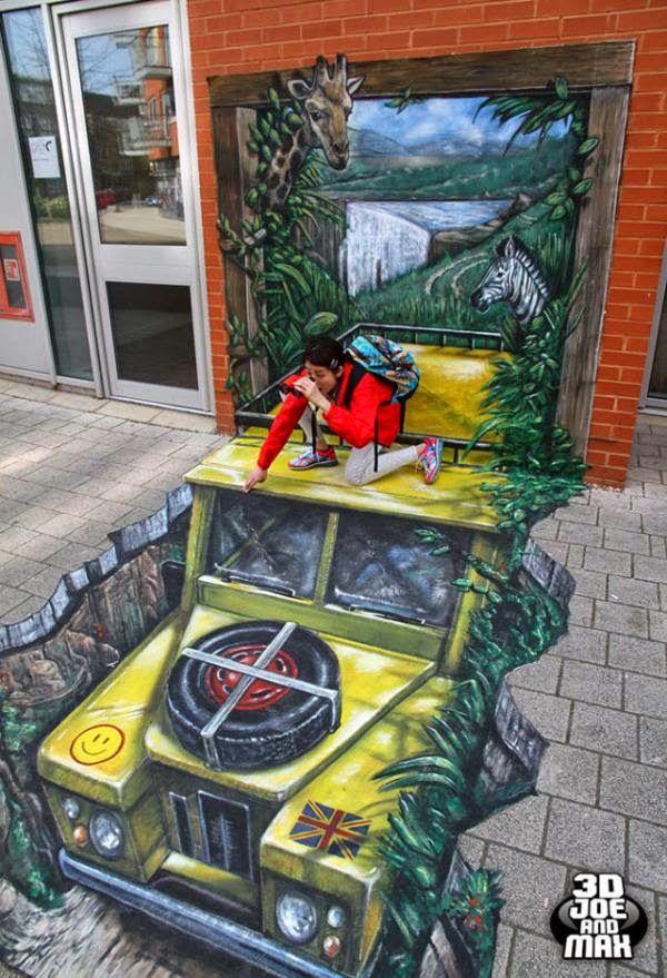 Increibles pinturas realistas callejeras en 3d - Vida Lúcida