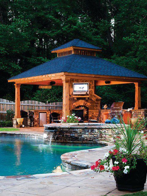 Best 25 backyard gazebo ideas on pinterest for Pool design with gazebo