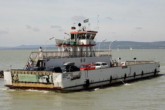 Ferry Crossing, Lake Balaton, Hungary  / Tihany ferry rév - Szántód rév take towards Szántód