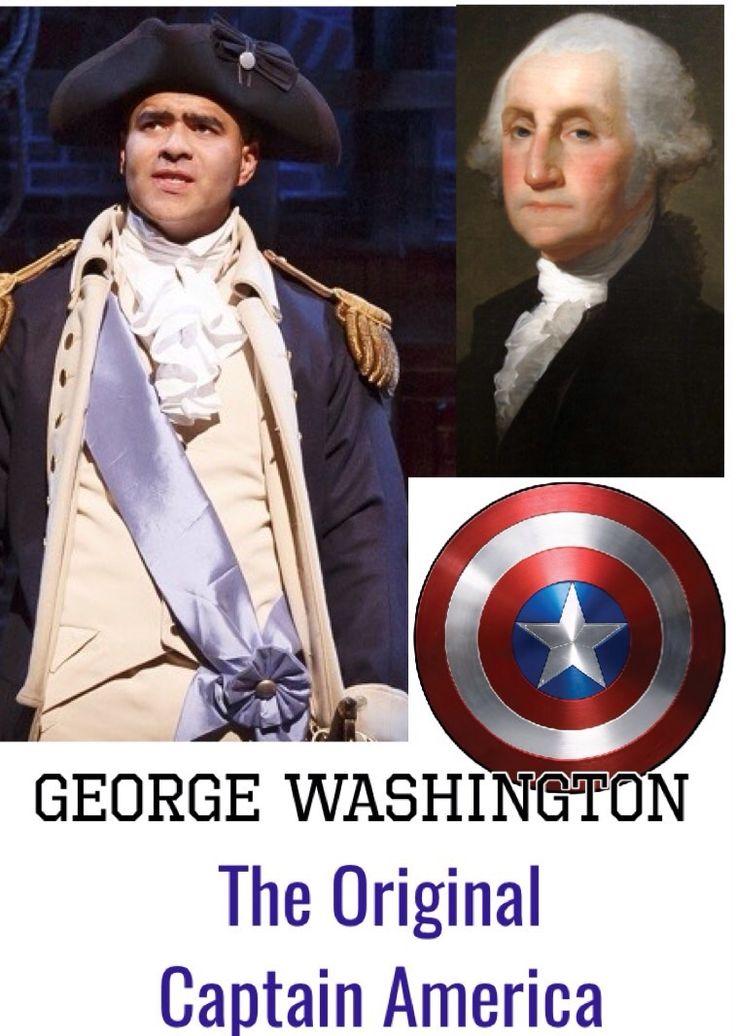 THE ORIGINAL CAPTAIN AMERCA.... GEORGE WASHINGTON