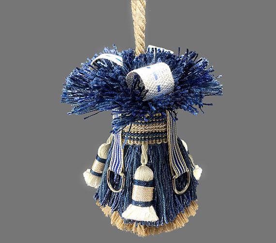 Blue Home Decor Tassel Preppy Accent Tassel by lulabellestyle