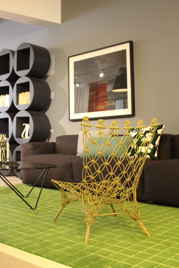 Cult | Cappellini section in our Sydney Showroom with the innovative Knotted Chair, designed by Marcel Wanders in 1996.