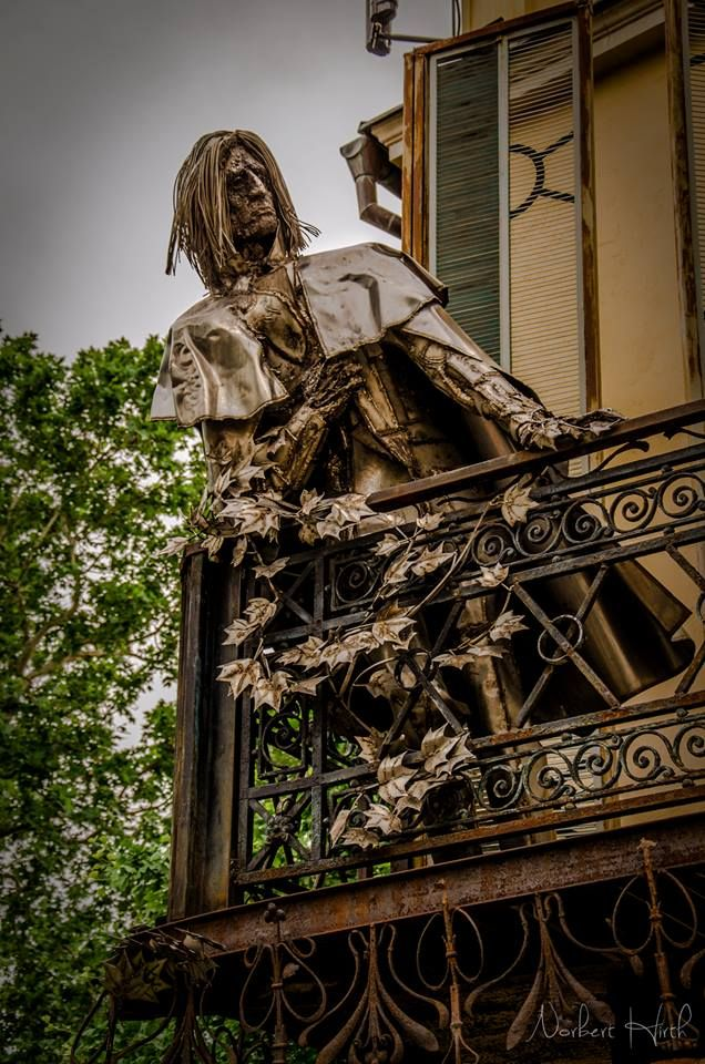 Alternative statue of Franz Liszt in the southern town of Pécs.