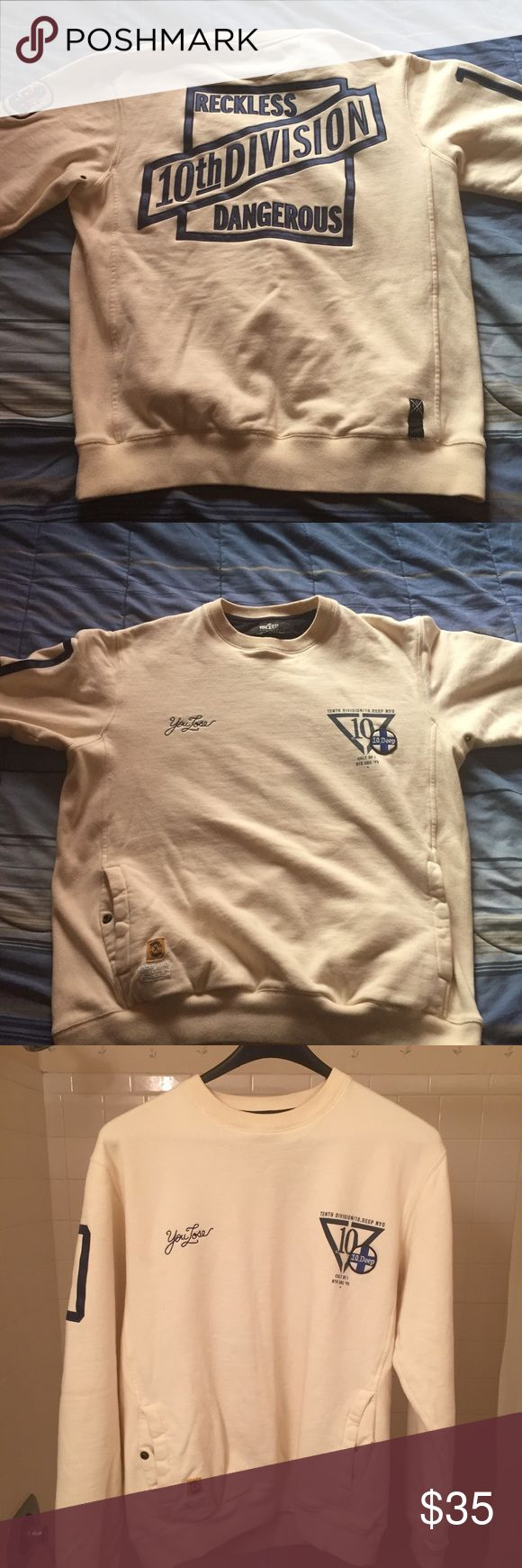 10 deep sweatshirt 10 deep sweatshirt slightly worn dope shirt 10.Deep Sweaters Crewneck