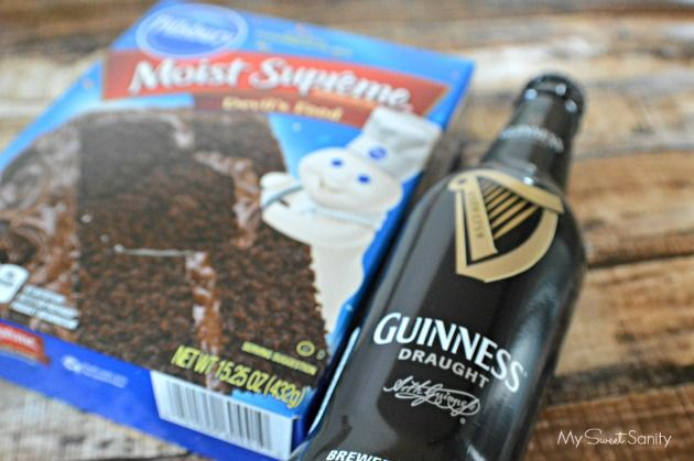 Amazingly Awesome and Easy Irish Car Bomb Cupcakes - Perfect for St. Patrick's Day made with a box cake mix