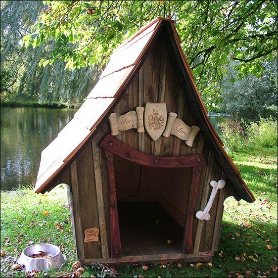 Niches originales et f eriques pour chiens dog houses - Niche pour chien en palette ...