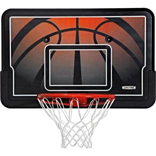 """BASKETBALL BACKBOARD RIM Combo Wall/Roof Mount 44"""" Hoop Net Game All Weather #Lifetime"""