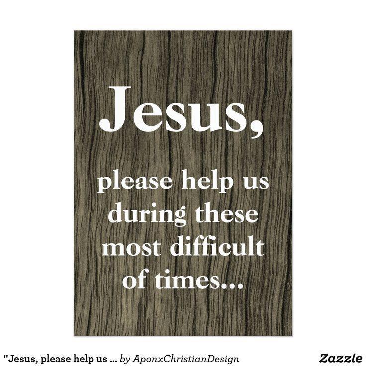 """Jesus, please help us ..."" Prayer Request Card"