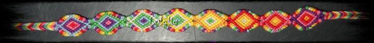 Bracelet brésilien méthode normale en coton mouliné : Bracelet par lolelie