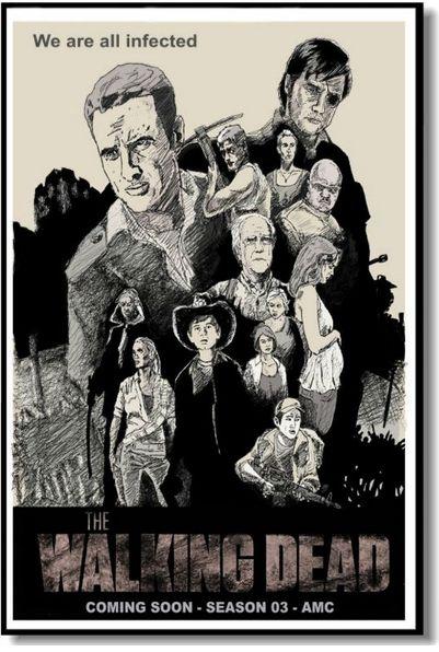 Купить ходячие мертвецы - постер, плакат, афиша №11 по низкой цене