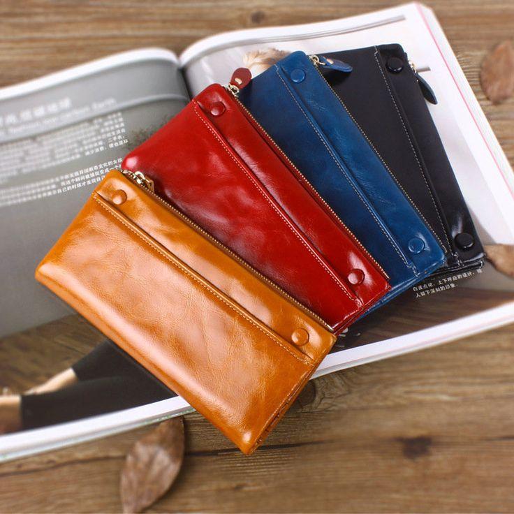 Carteras de cuero auténticas en línea para mujeres bolso de clutch vintage con remalleras chicas [LH63027] - €26.32, Bzbolsos.com