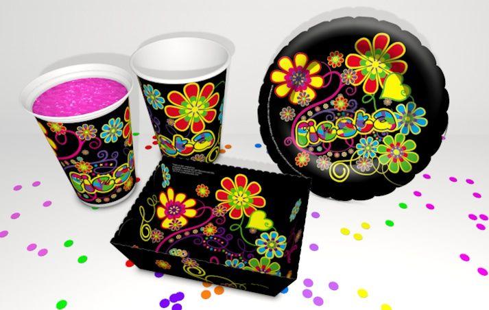 Decoration para fiesta temática psicodélico, un disfrute total para tu evento, .. hora loca