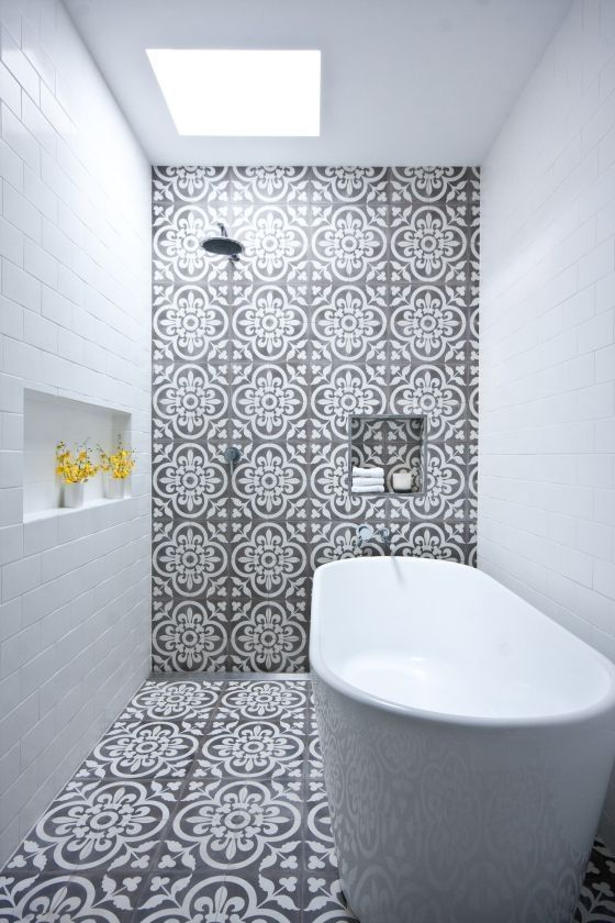 Fixing Water Leaking From Upstairs Bathroom To Downstairs 101 Eclectic Bathroom Narrow Bathroom Bathroom Inspiration