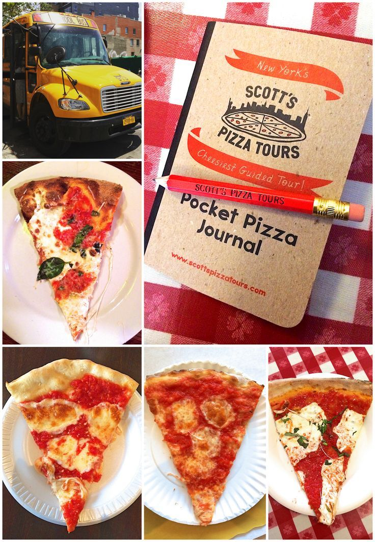 Scott's Pizza Tour NYC - a must do activity on your next trip to New York City. Do a walking tour or the Sunday bus tour. Great way to sample tons of delicious NY Pizza!