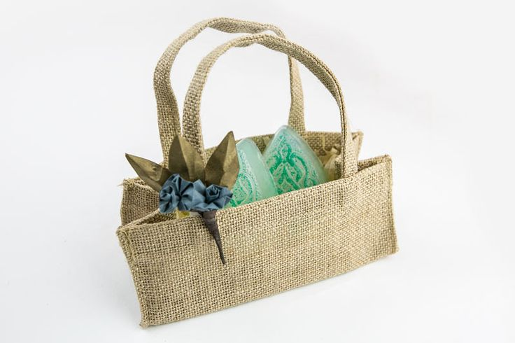 Handcrafted twin soap with Hessian bag, $25.00