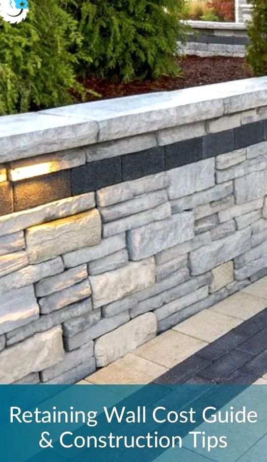 Retaining Wall Cost Guide Construction Tips In 2020 Landscaping Retaining Walls Retaining Wall Cost Concrete Retaining Walls