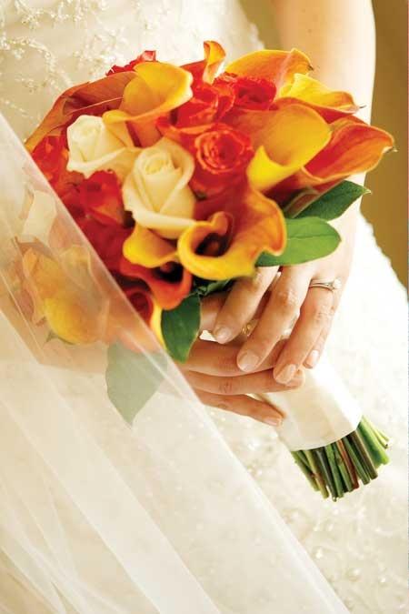 Fall/autumn color bouquet