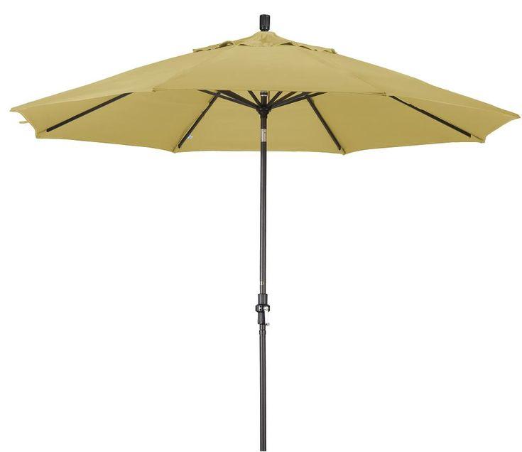 Lauren & Co Alluminum 11-ft Wheat Patio Umbrella with Sunbrella