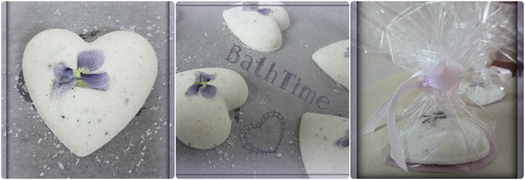 coconut bathbombs with pressed flower