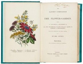 'The Ladies' Companion to the Flower-Garden', by Jane Loudon, 3rd edition, published by William Smith, London. l Victoria and Albert Museum