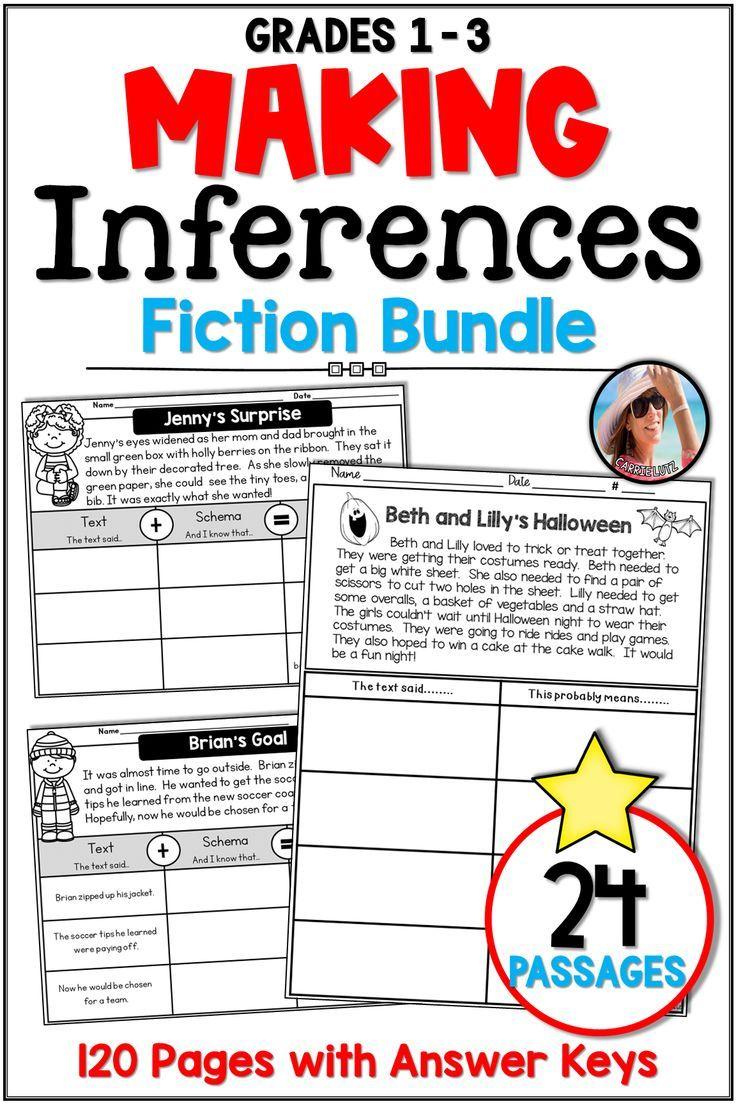 Making Inferences Worksheets Fiction Bundle Distance Learning Making Inferences Reading Comprehension Inference