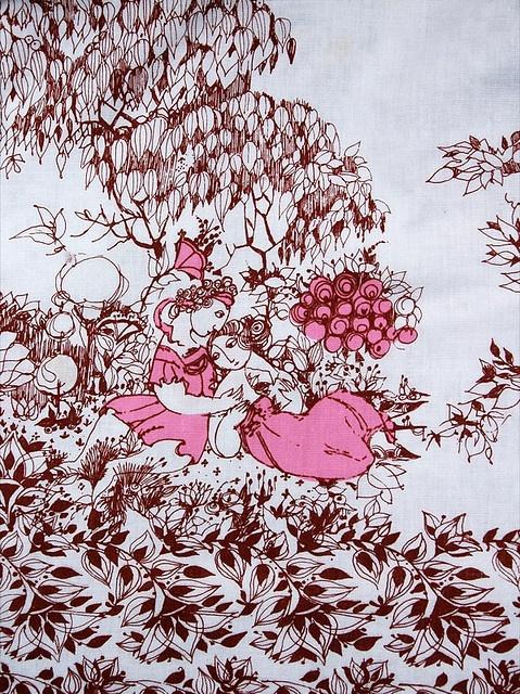 bjorn wiinblad tablecloth by leslie.keating, via Flickr