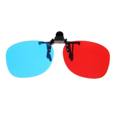 Metal Clip for Short Sight 3D glass anaglyph red cyan / blue glasses for games