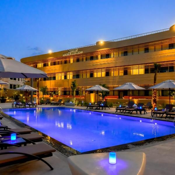 Riyadh Diplomatic Quarter Marriott Executive Apartments Located In Riyadh And With King Khalid Grand Mosque Reachabl Grand Mosque Hotel Outdoor Swimming Pool