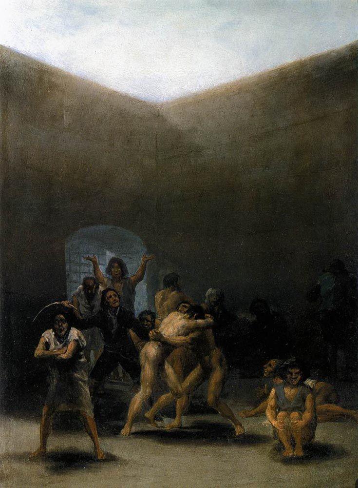 El patio de un manicomio by Francisco de Goya (Spanish, 1746-1828)