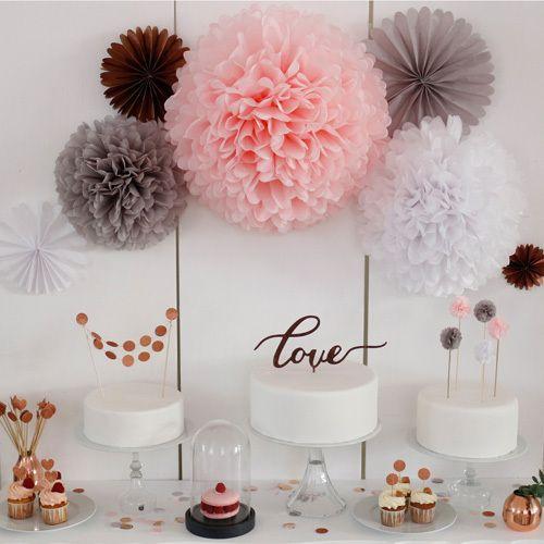 Bezaubernde Dekoration für die Tische bei eurer Hochzeit   PomPom your life!   Foreverly.de