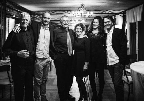 Cena Con Dialetto.  Lo staff con i Dialettanti al Relais di Villa Giulia di Fano  venerdi 23 ottobre 2015