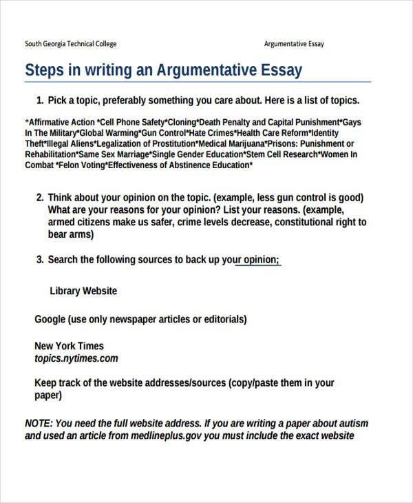 The  Best Argumentative Essay Outline Ideas On