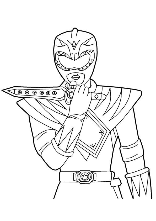 The Green Ranger Coloring Page In 2020 Power Rangers Coloring Pages Coloring Pages Green Ranger