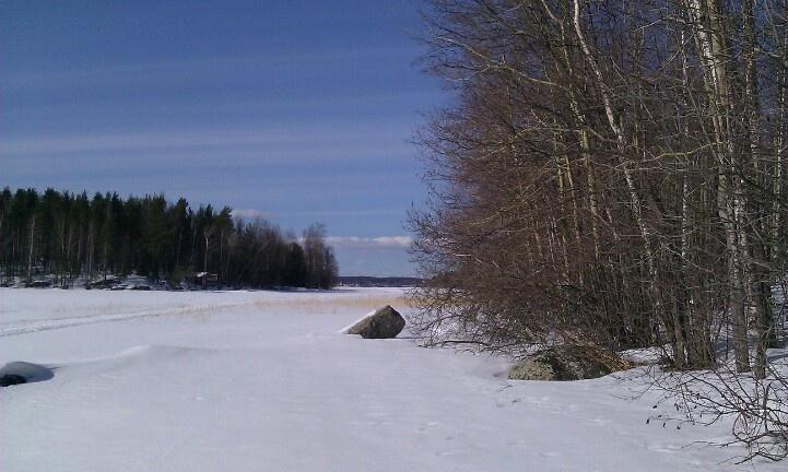 Lake Päijänne, magnificent place, March 2013