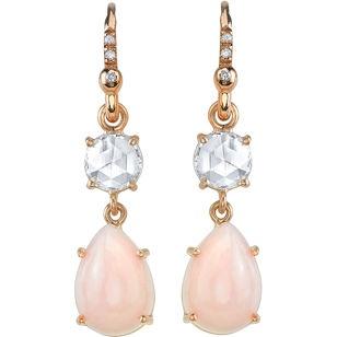 Oh god, Irene Neuwirth Pink Opal & Diamond Drop Earrings $5,480: Irene Neuwirth, Style, Neuwirth Pink, Diamonds, Diamond Drop Earrings, Jewelry, Pink Opal, Opals