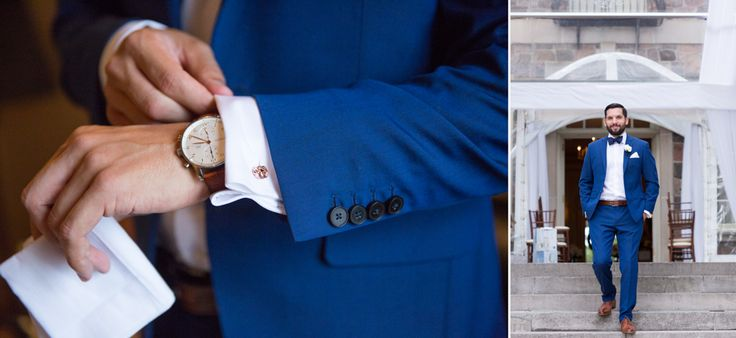 love this groom's blue suit!