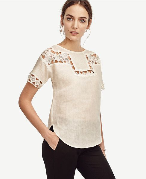 Primary Image of Lacy Linen Tee