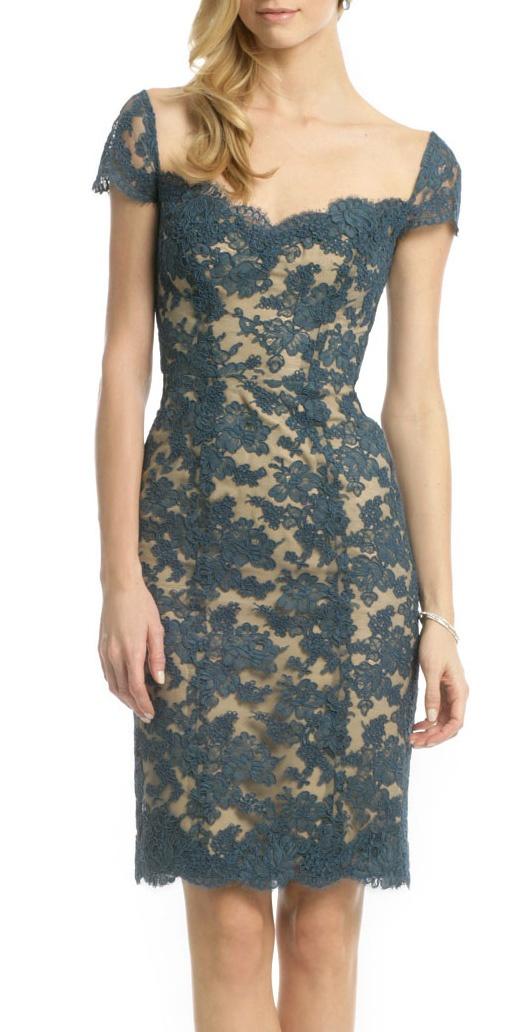 Lace pencil dress / Reem Acra.